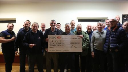 The group donated £400 to the RNLI. Picture: Alan Loveridge