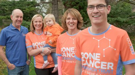 Ben Mager pictured with mum Nicky, Andy and Sue Collard, and their daughter Arabella. Picture: MA