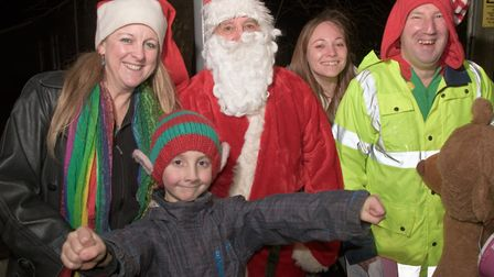Father Christmas and friends at Worle Christmas fair. Picture: MARK ATHERTON