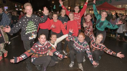 Students from The Jayne Elizabeth Stage School at Worle Christmas fair. Picture: MARK ATHERTON