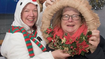 Tracey Gulacsi and friend at Worle Christmas fair. Picture: MARK ATHERTON