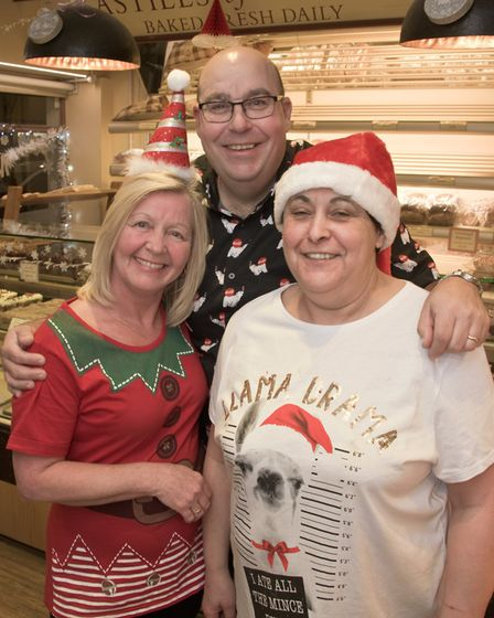 Staff at Astills looking festive at Worle Christmas fair. Picture: MARK ATHERTON