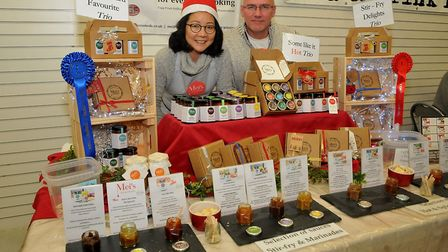 Mei and Kenn of Mels Homemade Artisan Sauceseat:Christmas W-s-M moved into the Sovereign Centre afte