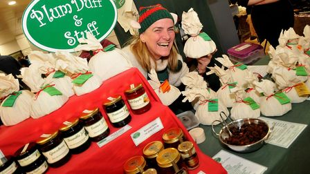 Wizz with her puddings of Plum Duff and Stuffeat:Christmas W-s-M moved into the Sovereign Centre aft