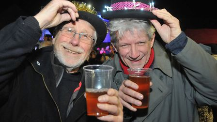 Dave Left and Jeremy Arnold at the Wrington Christmas Dickensian Fair.Picture: Jeremy Long