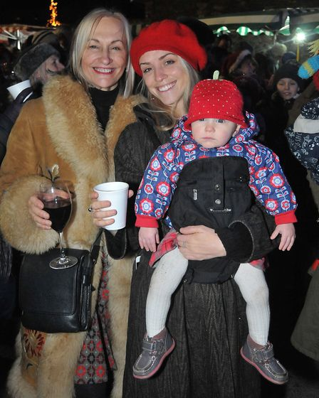 People enjoying the Christmas fair.Picture: Jeremy Long
