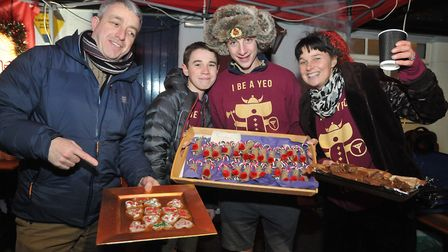 Yeo Valley Explorers at the Christmas fair. Picture: Jeremy Long