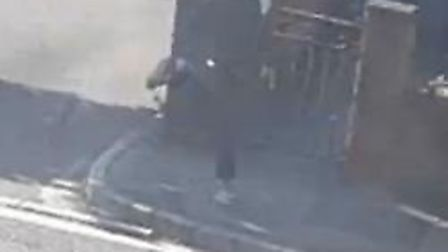 Police want to speak with this man in connection with a criminal damage incident in Weston. Picure: