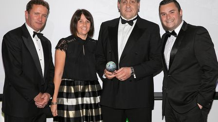 Alan House and Sarah House collecting the award for Holiday Park of the Year.Picture: NICK WILLIAMS