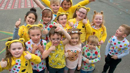 A spotty day was held for Children In Need at St Anne's Primary School, Hewish. Picture: Mark Athert
