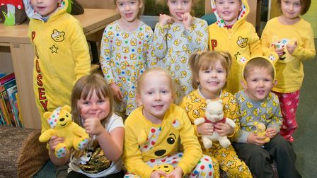 At Mendip Green School in Worle came to school dressed in pyjamas. Picture: Mark Atherton