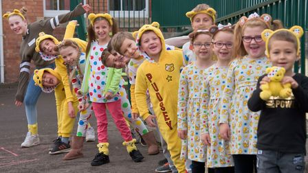 Children wore spots and held a cake sale at Milton Park Primary School. Picture: Mark Atherton