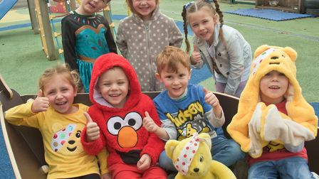 Pupils dressing up for Children In Need at Mead Vale Primary School. Picture: Mark Atherton