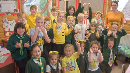 Kewstoke Primary School. Pupils dressed up for Children in Need. Picture: Mark Atherton