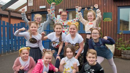 Castle Batch Primary School, Worle had a dress down day. Picture: Mark Atherton