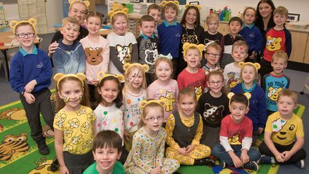 Haywood Village Academy pupils raised money for Children In Need. Picture: Mark Atherton