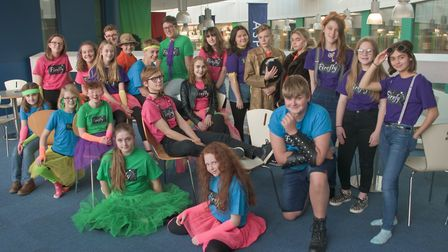Members of the Firefly Nailsea School Drama Group during rehearsals. Picture: MARK ATHERTON
