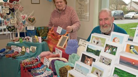 Diana and John Wyatt with their stall at Brent Knoll Farmers Market. Picture MARK ATHERTO