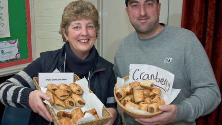 Jane and Mike Smith from Mike's Pork at Brent Knoll Farmer's Market. Picture MARK ATHERTO