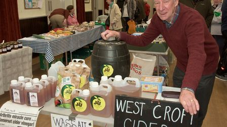 Mac Hare from Westcroft Cider at Brent Knoll Farmer's Market. Picture MARK ATHERTON