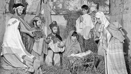 Pupils of Worle Junior School provided us with Christmas card by setting a scene from their Nativity