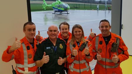 Smiles all round as the GWAAC has a new air base.Picture: Great Western Air Ambulance Charity