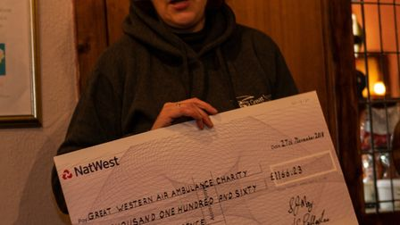 Heidi Roberts was presented with a cheque worth £1,200. Picture: Keith Wilson