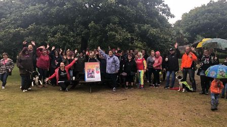 Slimming World Consultants at the Walk All Over Cancer fundraiser. Picture: Slimming World