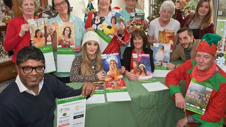 Staff at Tilsley House who have made their own Christmas calendar raising money for the Alzheimer So