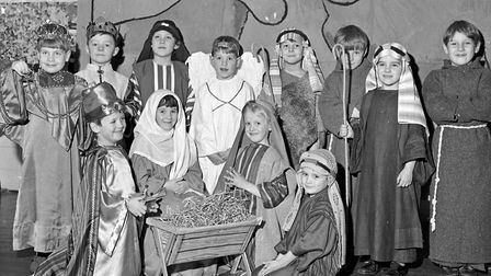 A scene from the Nativity Play by pupils of Christ Church Infants School. Picture: WESTON MERCUR