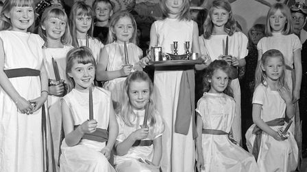 """Some of the 250 children who took part in Worle Junior School nativity play """"Christmas Around the Wo"""
