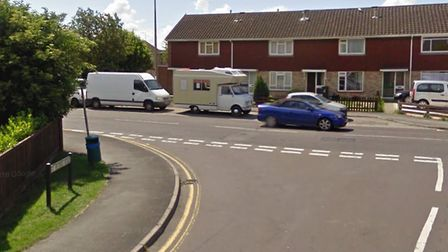 The incident happened at the junction of Love Lane and St Peters Road in Burnham. Picture: Google