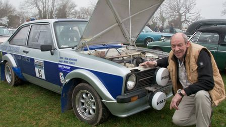 Rob Hopkins and his Ford Escort at the Redhill classic car meet. Picture: MARK ATHERTON