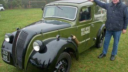 A rare Morris Minor from 1948 owned by Mike Dowling. Redhill Classic Car meet. Picture: MARK A