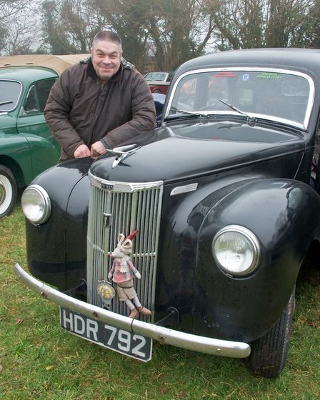 John O'Sullivan with his 1953 Ford Prefect at the Redhill classic car meet. Picture: MARK ATHER