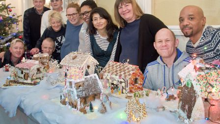 People at Westcliffe House made gingerbread houses to give to charities in the area. Picture: M