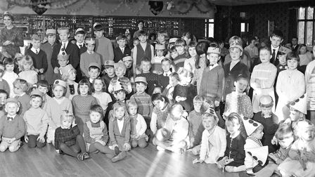 Children who attended a Christmas party at the Webbington Country Club. Picture: MARK ATHERTON