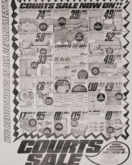 Ads 3rd January 1969 Edition. Picture: MARK ATHERTON