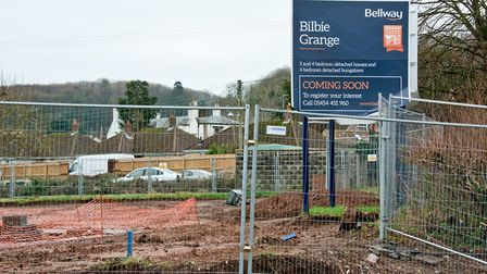 Wolvershill Road Bellway development near Orchard Close, Banwell. Picture: MARK ATHERTON