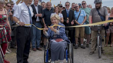 Lord Lieutenant for Somerset Annie Maw was on hand for the ribbon-cutting ceremony. Picture; N