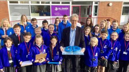 Jill Dandos brother Nigel gave a lecture at TKASA.Picture: The King Alfred School An Academy