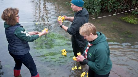 Banwell Boxing Day duck race. Picture: MARK ATHERTON