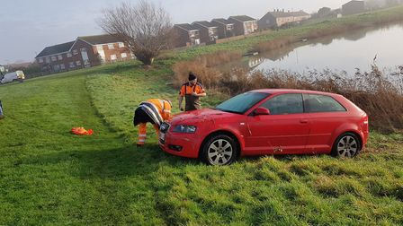 The Audi was recovered on Thursday morning. Picture: ASPolice Sedgemoor