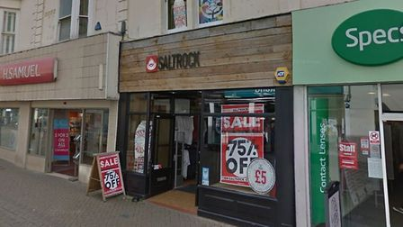 Now vacated clothing shop Saltrock looks set to be converted into an artists studio.Picture: Google