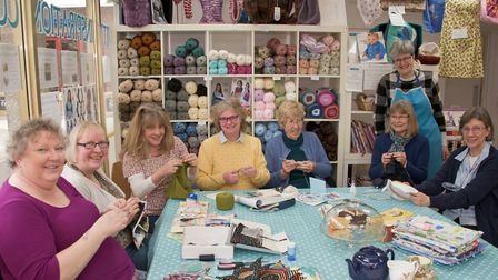 The Blue Room, Crown Glass Shopping Centre, Nailsea. Craft drop-in group.