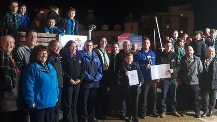 Naming ceremony at Weston RNLI Station with 1st North Worle Scout, Cub and Beaver Group, Weston Beac