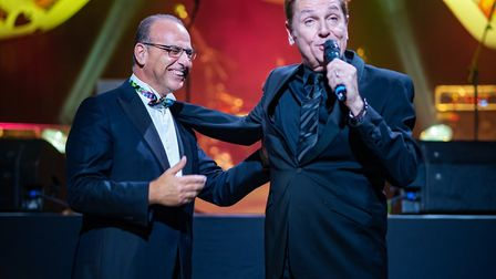 Theo Paphitis and Brian Conley at the AMCTs Memorial Ball.Picture: The Grand Pier