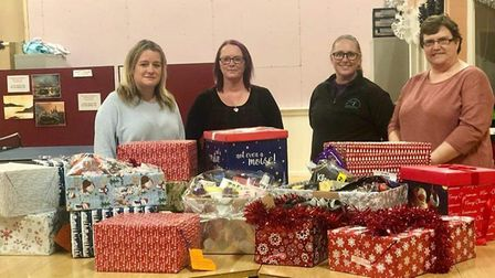 Jill and Steph presented the gifts to Weston Night Assessment Centre.