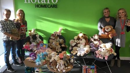 The couple collected the teddy bears to send to the Czech Republic.