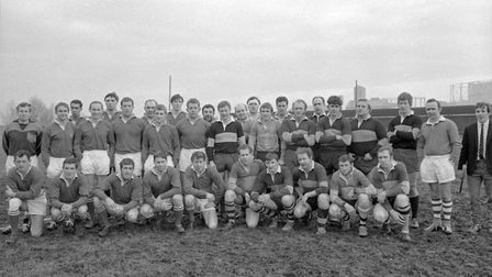 The Weston-super-Mare RFC and Hornets RFC sides which met for the first time last weekend, Weston wi